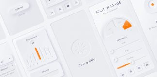 Neumorphic Soft UI Kit for Adobe Photoshop and Sketch.