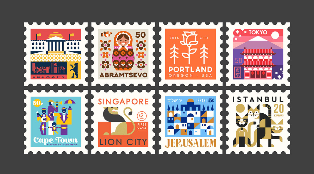 Town Squares: City Stamps Designed by The Makers Company