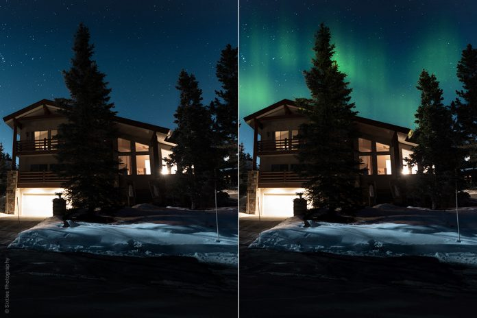 AI Augmented Sky (before & after)
