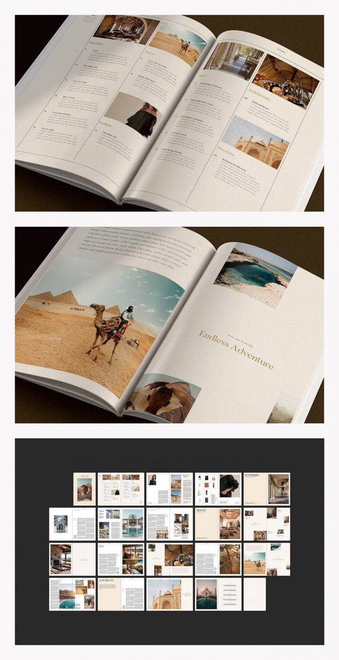 AURORA Lifestyle Magazine Template for Adobe InDesign.