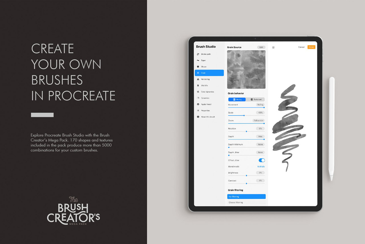 Create your own brushes in Procreate
