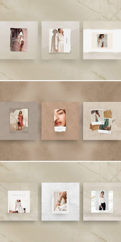 Esmèralda — Instagram Stories & Post Templates for Adobe Photoshop