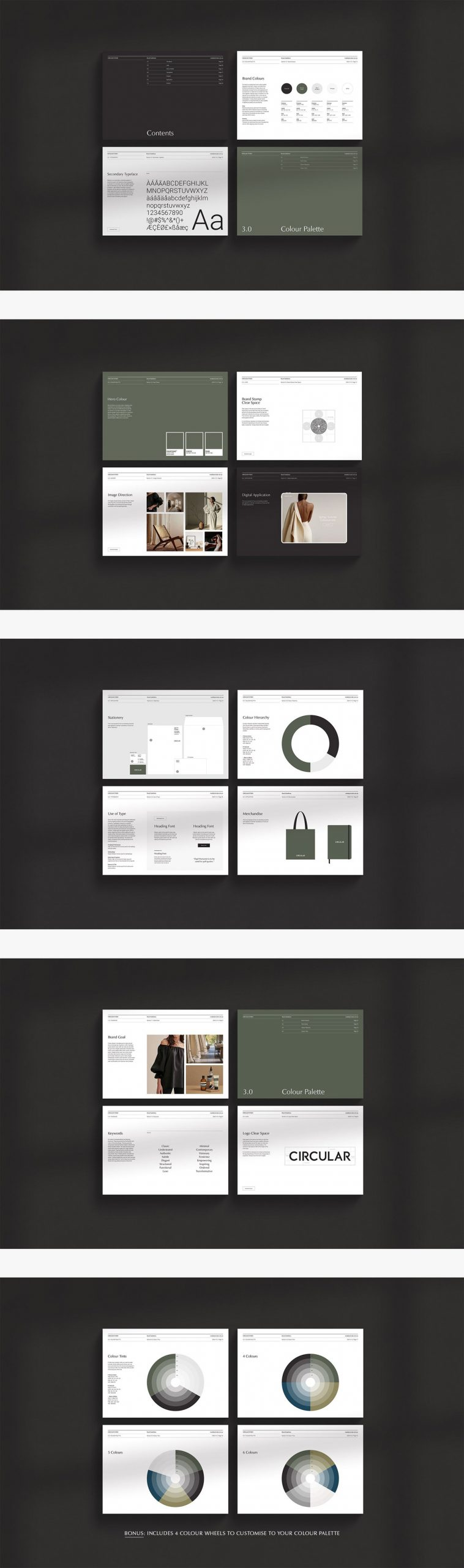 ODESSA brand guidelines by graphic design studio Circular.