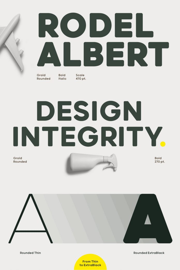 Grold Rounded font family from Typesketchbook.