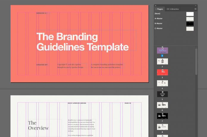 Minimal Brand Guidelines Template by Aperios Design.