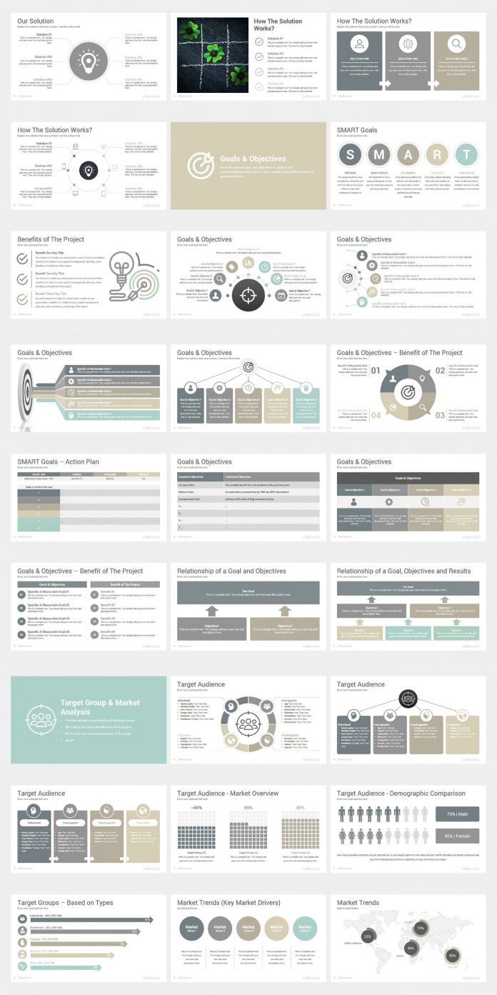 Project proposal Powerpoint template by SlideSalad.