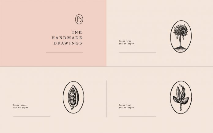 Graphic design and branding by Violaine & Jeremy for Bloom, a chocolate salon based in San Francisco.