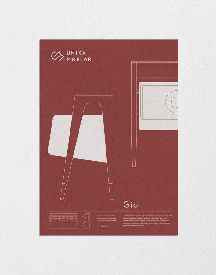 Poster by Leit design for furniture company UNIKA MØBLÄR.