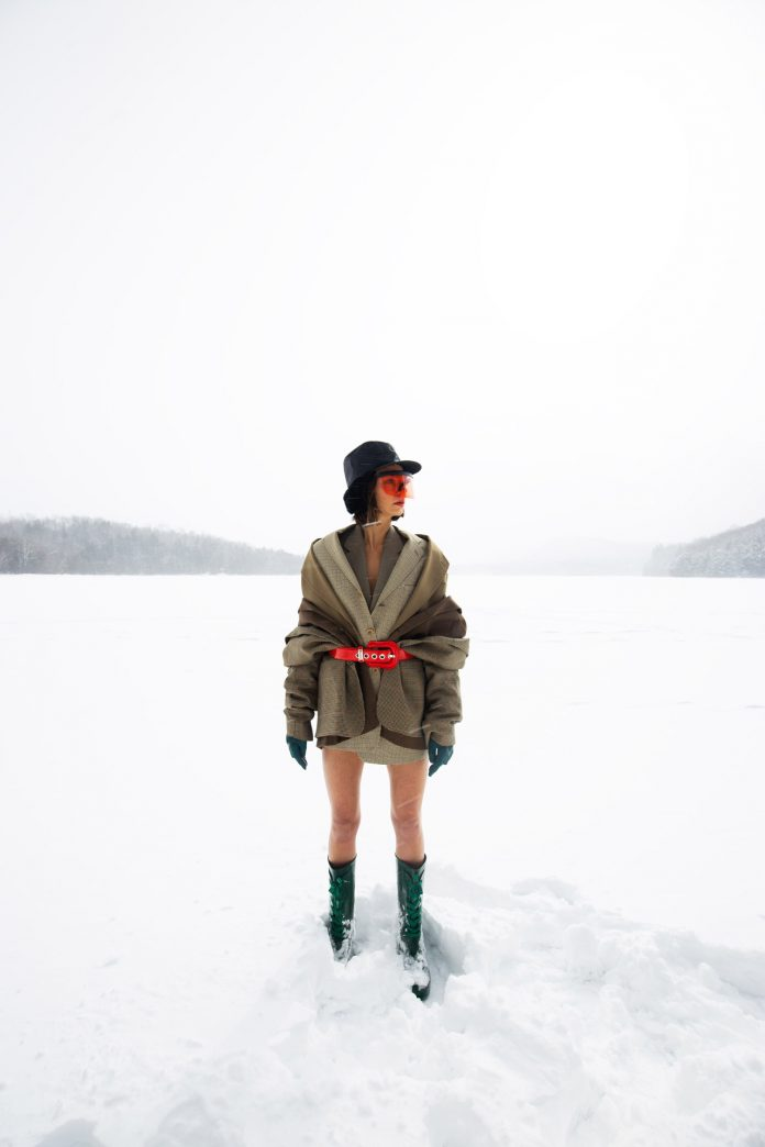 Snow Time: ski and winter inspired fashion photography by Florine Pellachin.