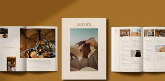 AURORA Lifestyle Magazine Template for Adobe InDesign.