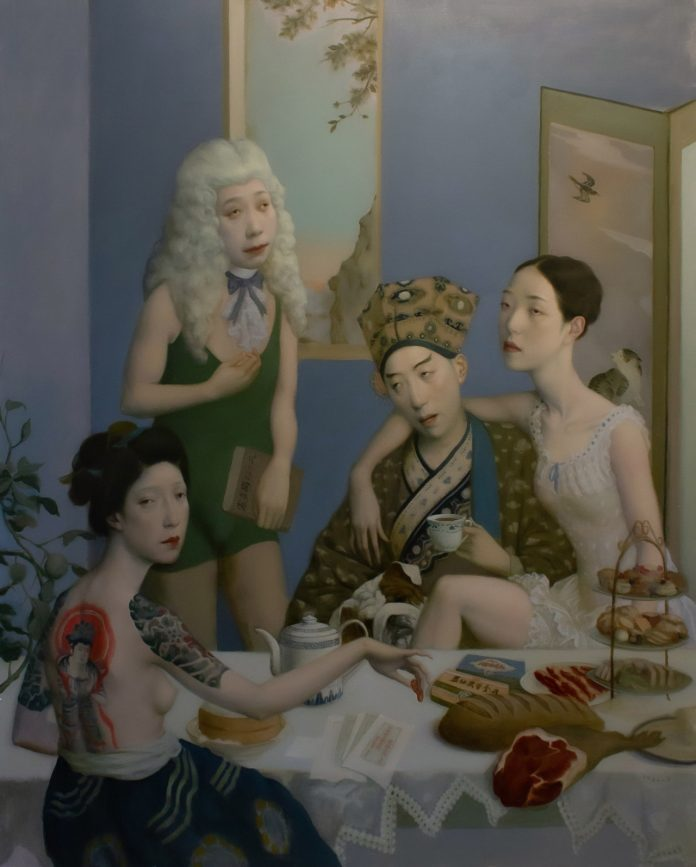 Afternoon Tea (60x48), image © by Jeffrey Chong Wang/Gallery House.