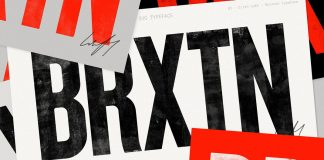 Brixton SVG typeface, a hand-printed font family by Ellen Luff.
