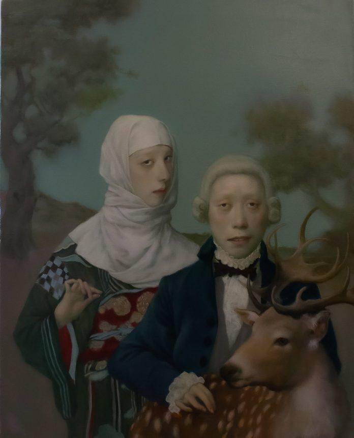 Deer Ghost (30x24), image © by Jeffrey Chong Wang/Gallery House.