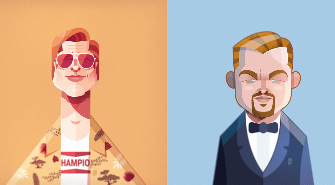 Illustrations of famous actors created by Ricardo Polo - Illustrations of famous actors created by Ricardo Polo