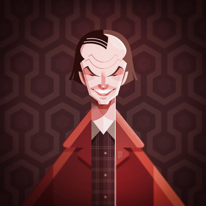 Jack Nicholson (The Shining) - Illustrations of famous actors created by Ricardo Polo