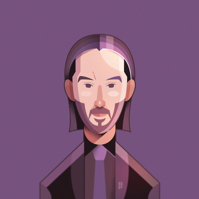 Keanu Reeves - Illustrations of famous actors created by Ricardo Polo