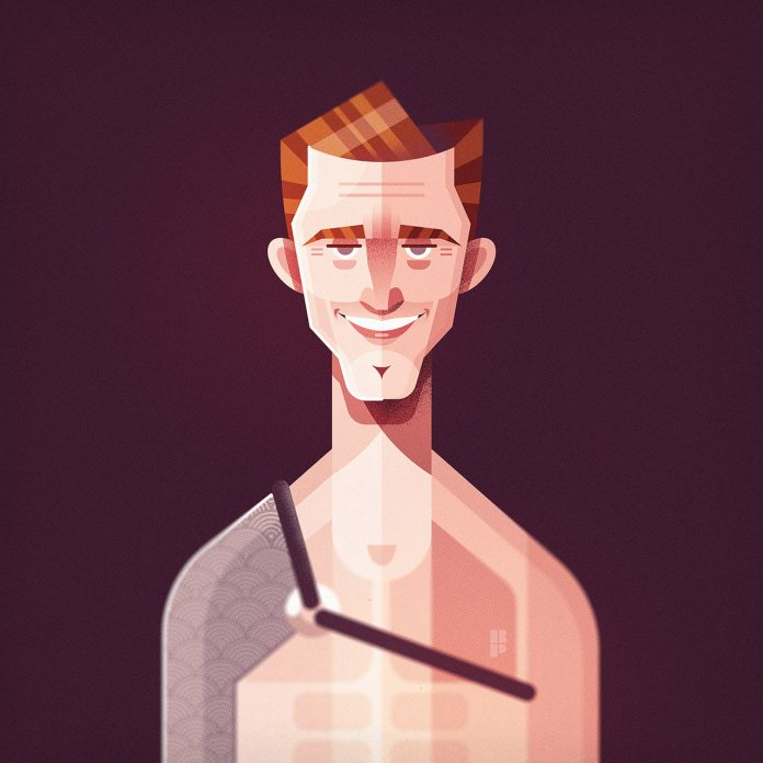 Kirk Douglas (Spartacus) - Illustrations of famous actors created by Ricardo Polo