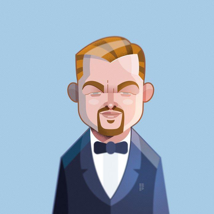Leonardo DiCaprio - Illustrations of famous actors created by Ricardo Polo