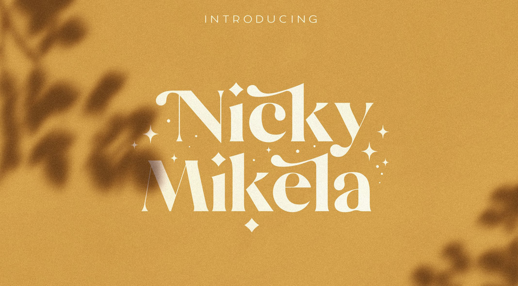Mikela - Three Gorgeous Typefaces by NEWFLIX.Bro.