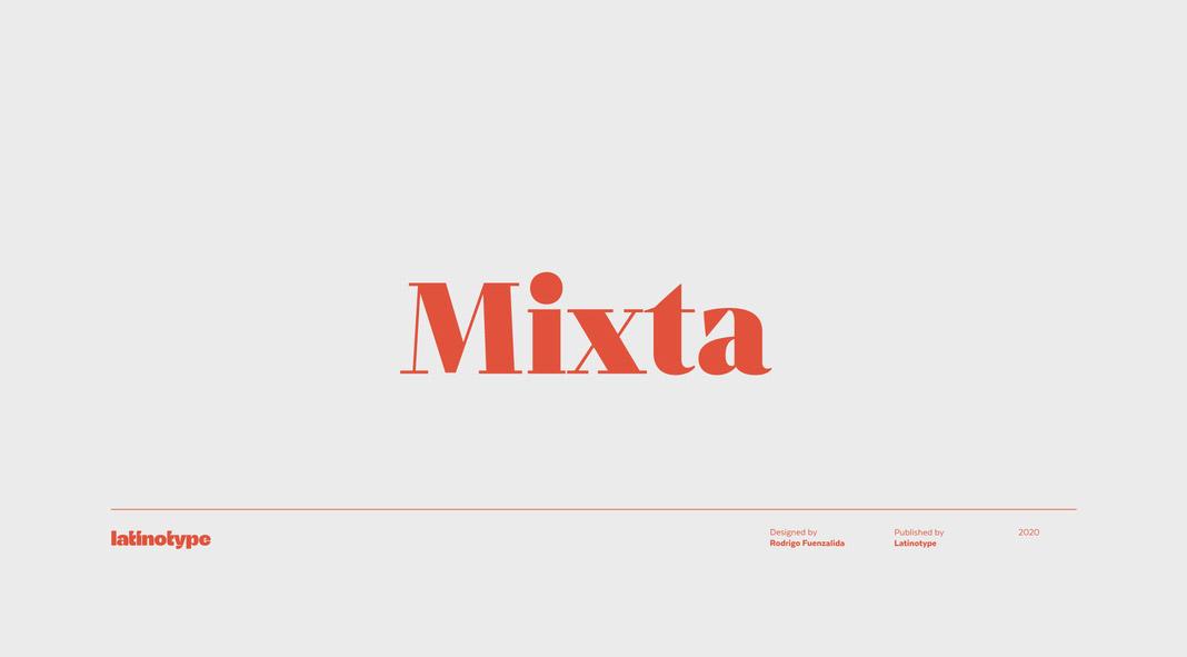 Mixta font family from Latinotype.