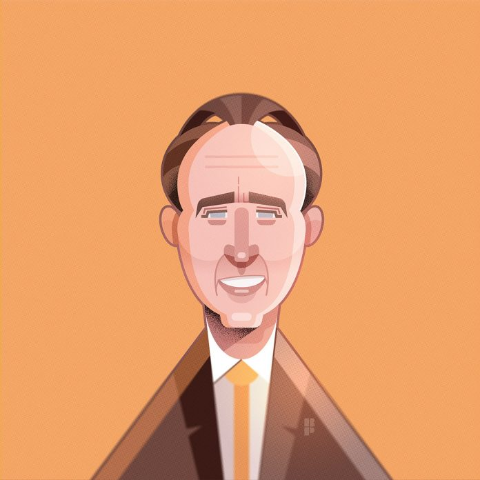 Nicolas Cage - Illustrations of famous actors created by Ricardo Polo