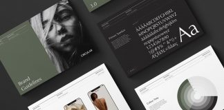 ODESSA brand guidelines by graphic design studio Circular.