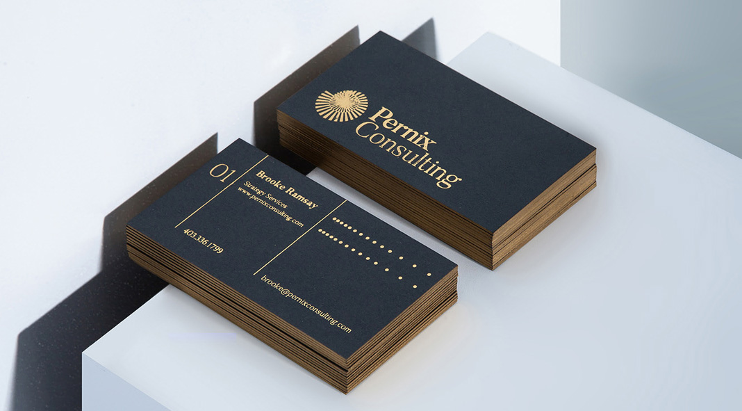 Branding and graphic design including stationery by Monotypo Studio for Pernix Consulting.