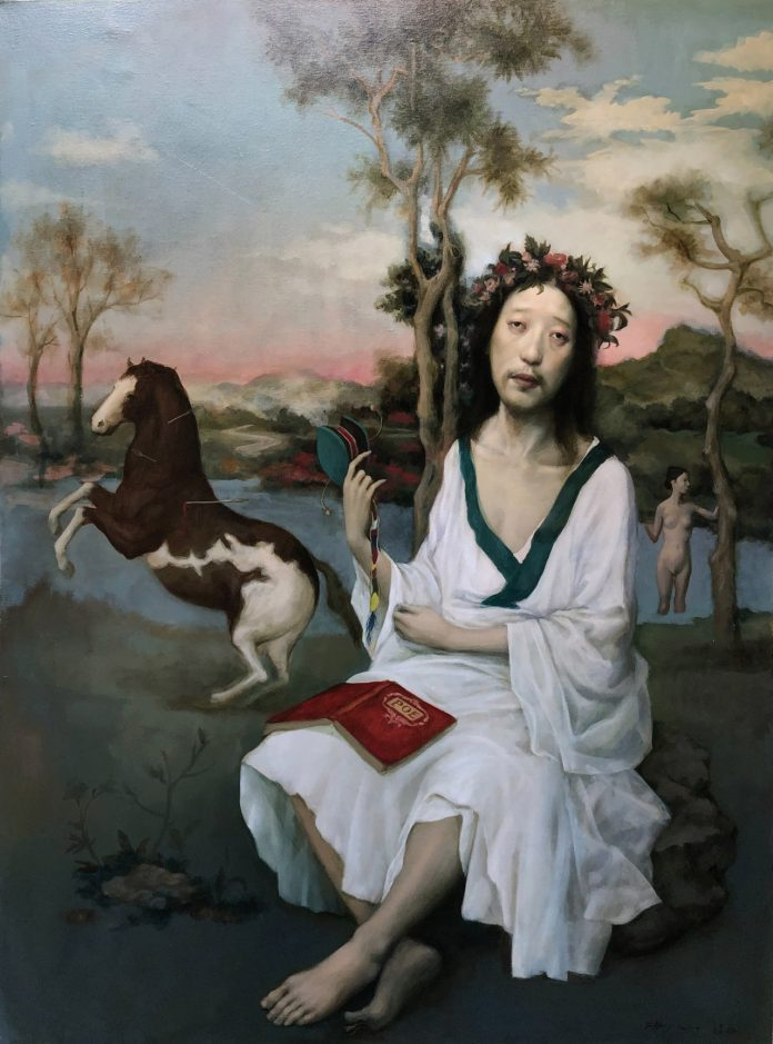 Poet (48x36), image © by Jeffrey Chong Wang/Gallery House.