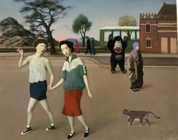 Run Away (24x30), image © by Jeffrey Chong Wang/Gallery House.