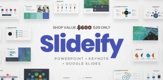 SLIDEIFY Presentation Bundle for Keynote, Powerpoint, and Google Slides.