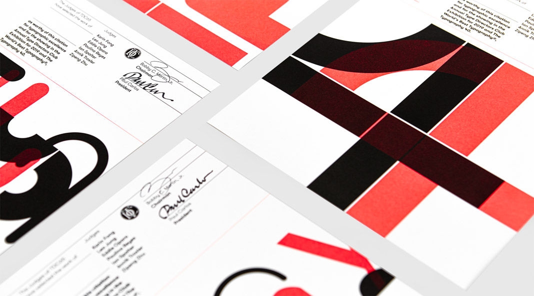 The Type Directors Club visual identity by graphic design agency Bond.