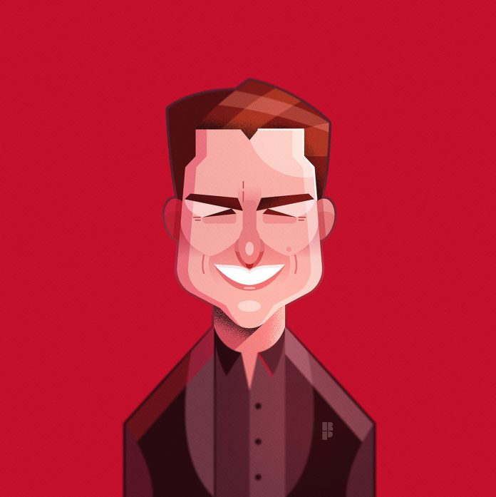 Tom Cruise - Illustrations of famous actors created by Ricardo Polo