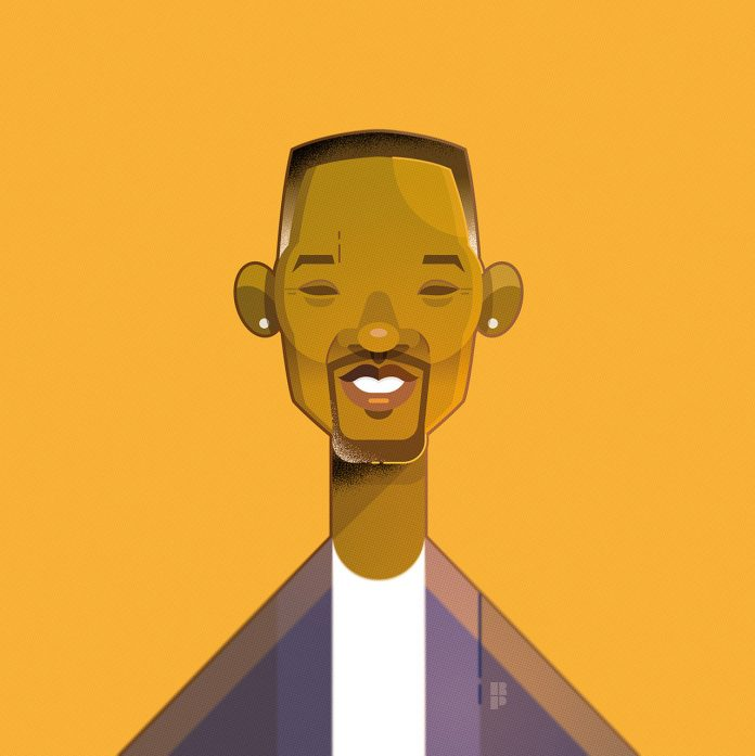 Will Smith - Illustrations of famous actors created by Ricardo Polo