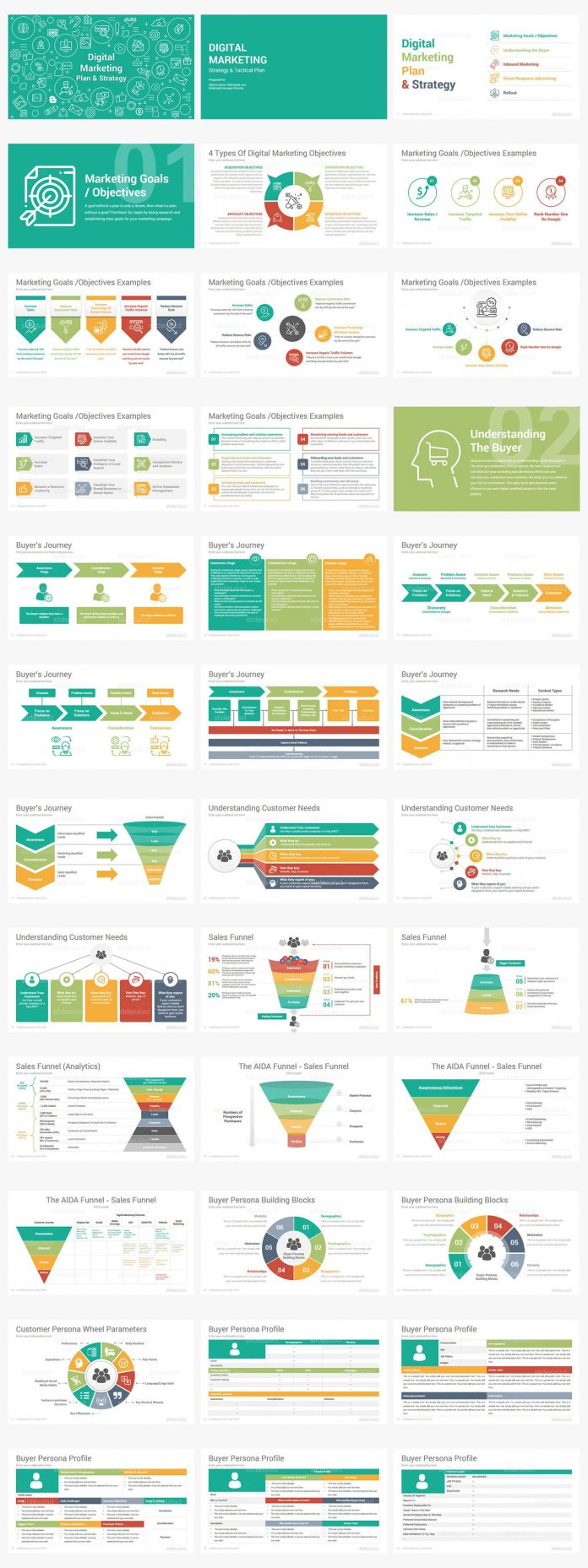 Digital Marketing Powerpoint templates by SlideSalad