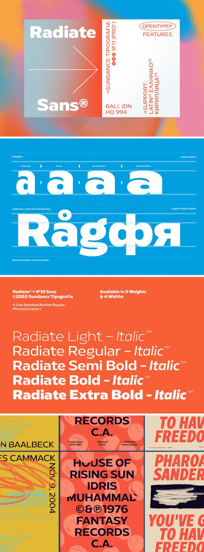 Radiate Sans Font Family by Studio Sun.