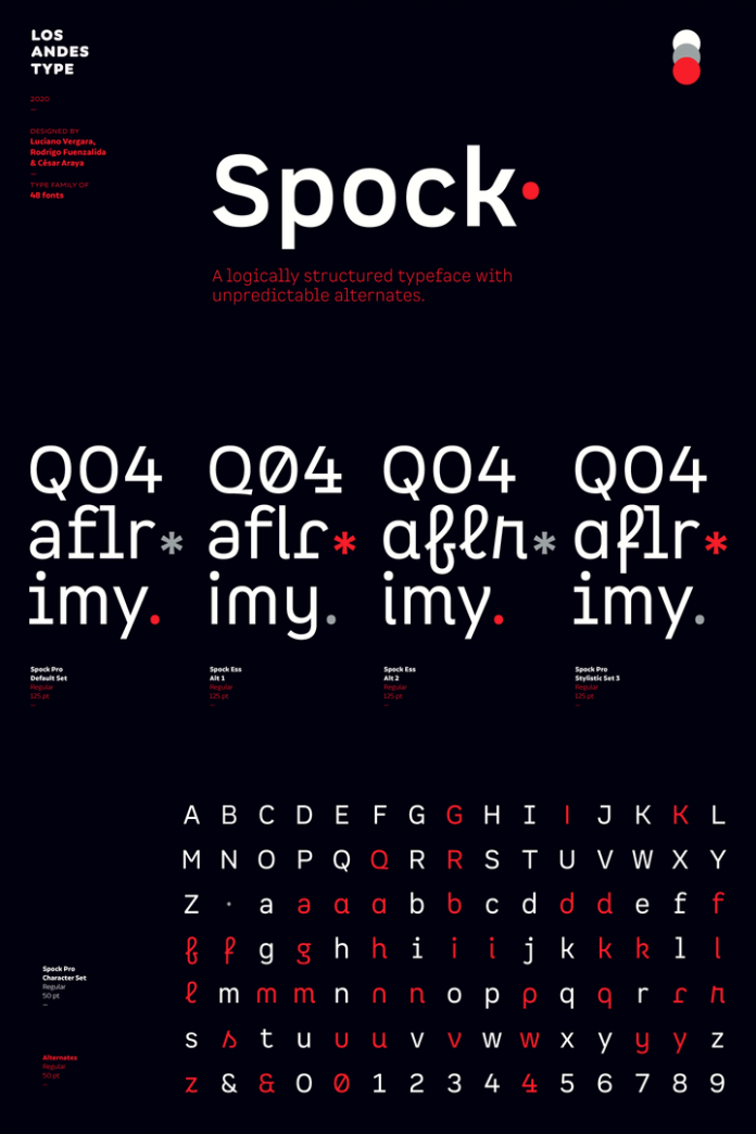 Spock Font Family by Los Andes.
