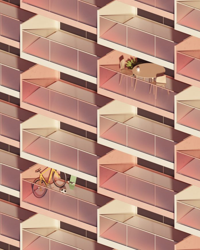 Living Spaces: 3D surrealism and architecture visualization by Rafael Eifler.