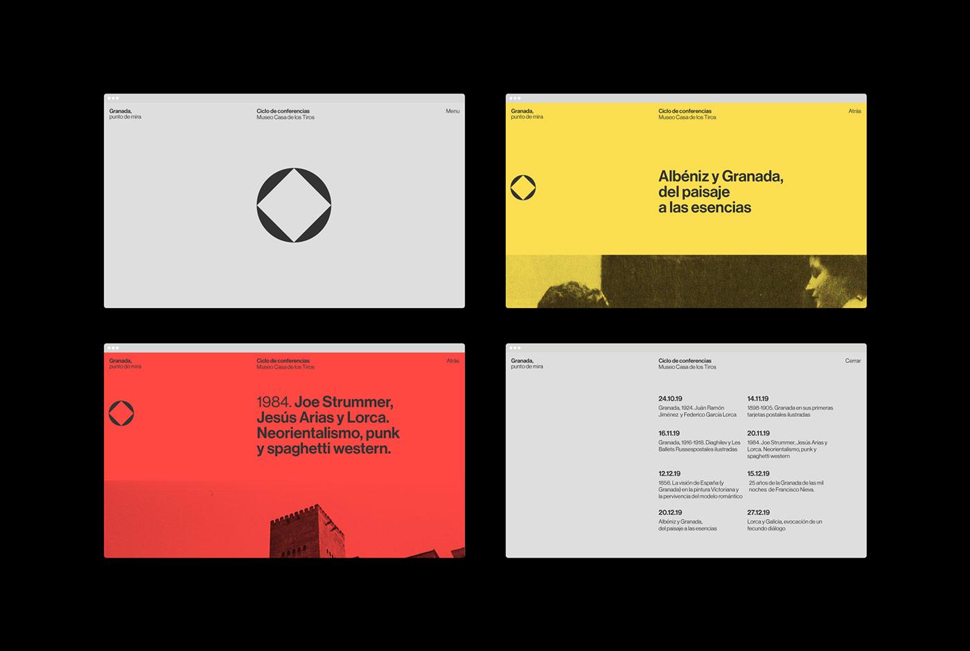 Graphic design by Plácida for Granada, punto de mira.