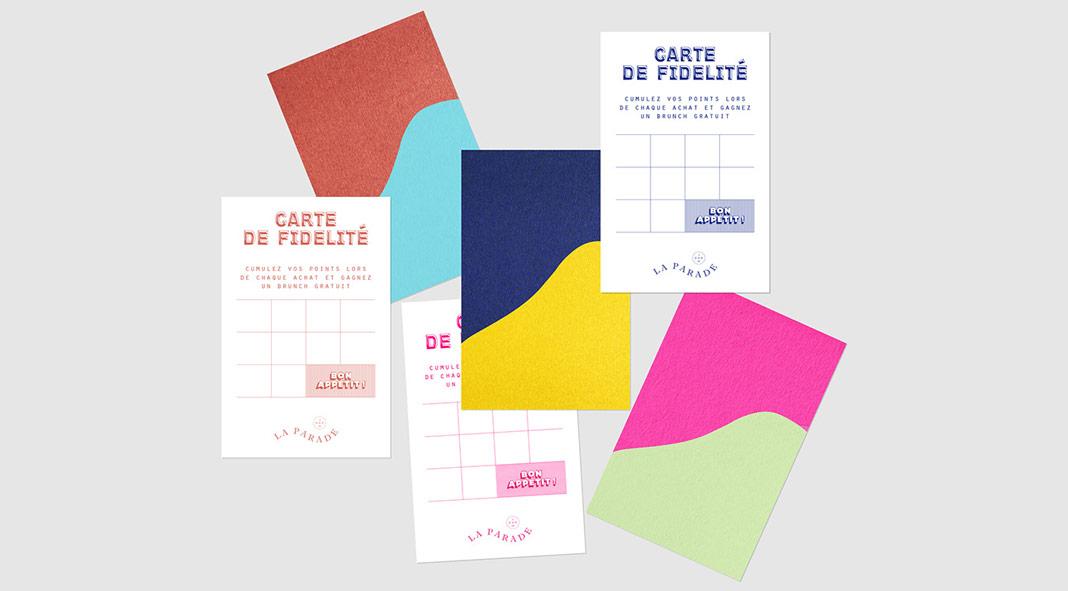 Brand identity design by Studio Impulso for La Parade, a french jam bar.
