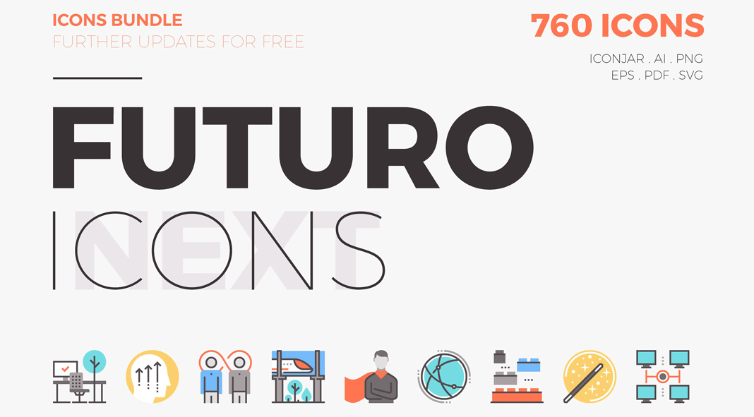 Futuro Next Icons Bundle by Bloomicon