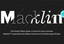 Macklin font family from the Monotype Studio