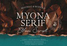 Myona Serif and Elfani Script plus extras