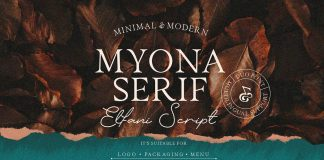 Myona Serif and Elfani Script plus extras