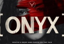ONIX, a hand-painted SVG font pack by SilverStag.