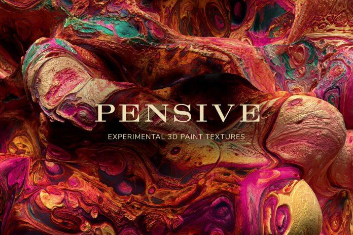 Pensive: Experimental 3D Paint Textures.
