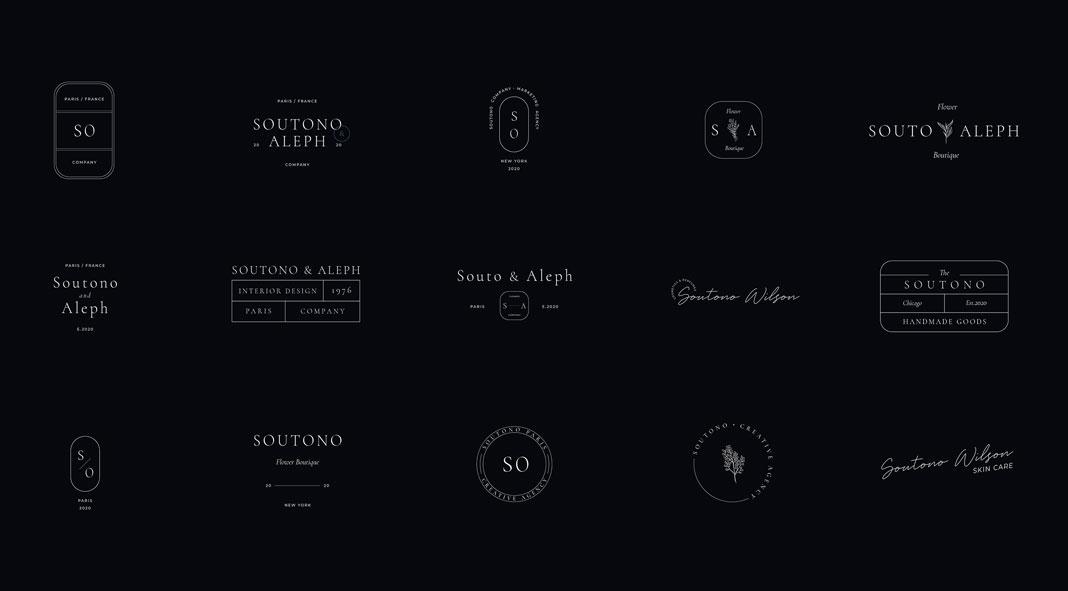 Soutono: Minimal Logo Design Templates