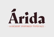 Árida font family by Latinotype.