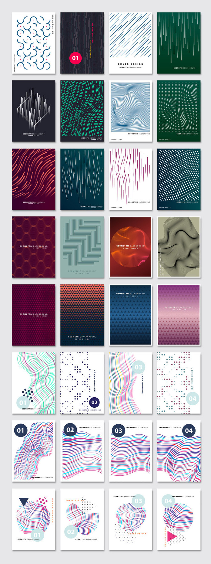 Abstract Geometric Vector Graphic Design Templates