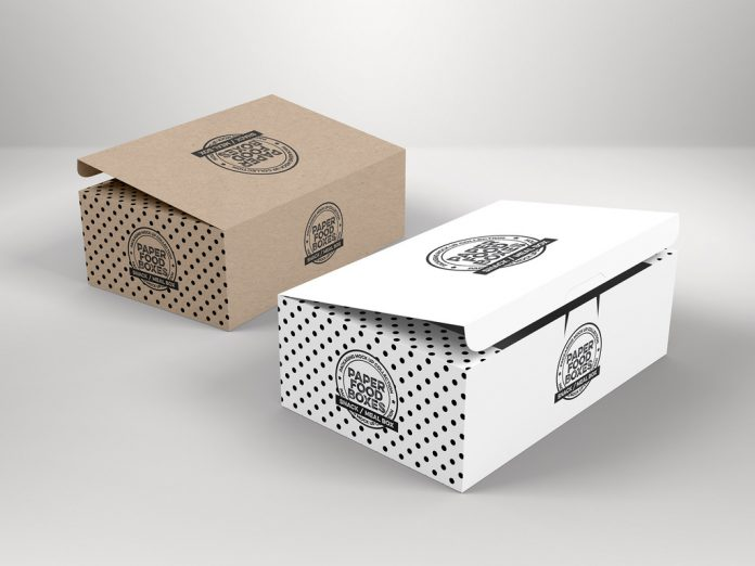 Cardboard boxes with folding lids.