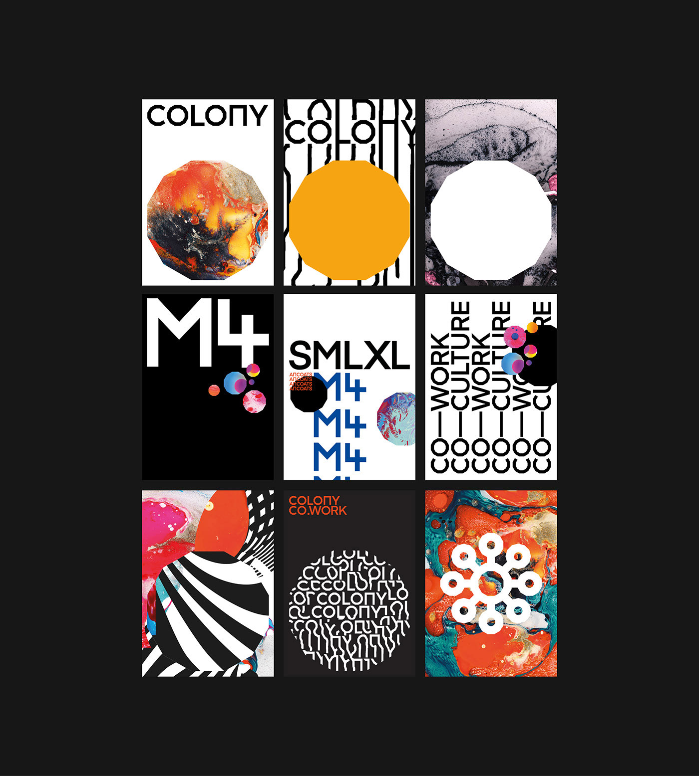 COLONY — Brand Identity & Implementation by Steven Waring and Martin James Power